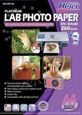 ส่วนลด สินค้า Hi Jet Photo Lab Paperกระดาษเคลือบพิเศษผิวกึ่งมันเงากึ่งด้าน260แกรม Rc Base A4 20 Sheets