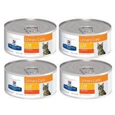 Hill's Urinary Care feline c/d canned With Chicken อาหารเปียกแมว ที่มีปัญหาเรื่องนิ่ว (แถบสีส้ม) 156g  ( 4 units )