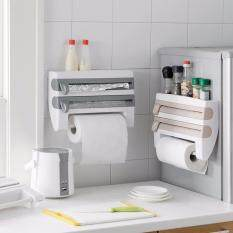 HOME KITCHEN 2017 เครื่องตัดพลาสติกซีลอาหาร กระดาษฟรอยด์  ราวแขวนกระดาษทิชชู่ 4 in 1 ( เทา )