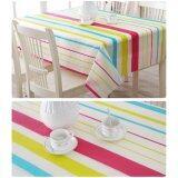 ซื้อ Home Kitchen Outdoor Picnic Colorful Stripe Pattern Pvc Waterproof Anti Oil Tablecloth Table Mat ใหม่ล่าสุด