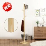 ราคา Home Modern High End Solid Wood Round Base 8 Hooks Coat Hanger Hat Rack Intl เป็นต้นฉบับ