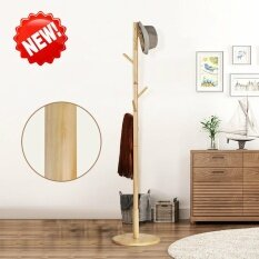 โปรโมชั่น Home Modern High End Solid Wood Round Base 8 Hooks Coat Hanger Hat Rack Intl ถูก