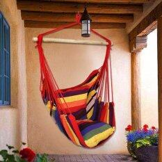 บ้านกลางแจ้งเปลญวนเชือกคอตตอนเก้าอี้โซฟาชิงช้าระเบียง Multicolor - Intl.