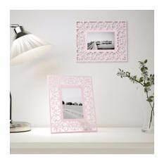 ราคา Homework กรอบรูป สีชมพู ฉลุลายดอกไม้ ใช้ได้ทั้งตั้งโต๊ะและแขวนผนัง Ikea ใหม่