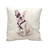 ส่วนลด Hot Vintage Home Decor Cotton Linen Pillow Case Sofa Waist Throw Cushion Cover Sitting Dog Unbranded Generic