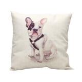 ซื้อ Hot Vintage Home Decor Cotton Linen Pillow Case Sofa Waist Throw Cushion Cover Sitting Dog ใน จีน