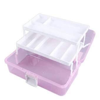 จัดเก็บของใช้ในครัวเรือนทางการแพทย์แบบพกพากล่องเก็บของ 3 ชั้นพลาสติกกล่องเครื่องประดับ - นานาชาติ