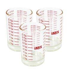 ราคา I Mix Measure Glass แก้วตวง 5 ออนซ์ 3 ใบ ใหม่ ถูก