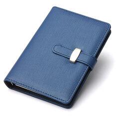 ราคา Identity Dairy Personal Planner Organiser Leather Hook Note Book Filofax Gift Blue ราคาถูกที่สุด