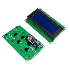 ราคา ราคาถูกที่สุด Iic I2C Twi 2004 204 20X4 Character Lcd Module Display For Arduino Blue Serial Intl