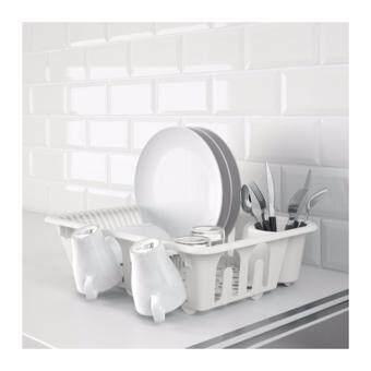 ที่คว่ำจาน ชั้นวางจาน ยี่ห้อIKEA รุ่นฟลุนดร้า ฟังก์ชั่นครบ ประหยัดพื้นที่ BEST SELLER สีขาว (Pack=1)