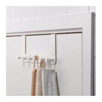 IKEA ENUDDEN ที่แขวนของหลังบานประตู สีขาว ตะขอแขวนผ้าเช็ดตัว หมวก กระเป๋า จัดระเบียบของใช้ ไม่ต้องเจาะผนัง