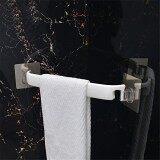 Inchant Self Adhesive Tower Bar Holder Powerful Non Trace Sticker Bathroom Kitchen Plastic Towel Hanger Rail Drill Free White Color 38Cm Intl เป็นต้นฉบับ