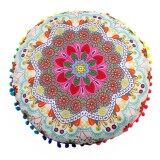 ความคิดเห็น Indian Mandala Floor Pillows Round Bohemian Cushion Pillows Cover Case Cushions Intl