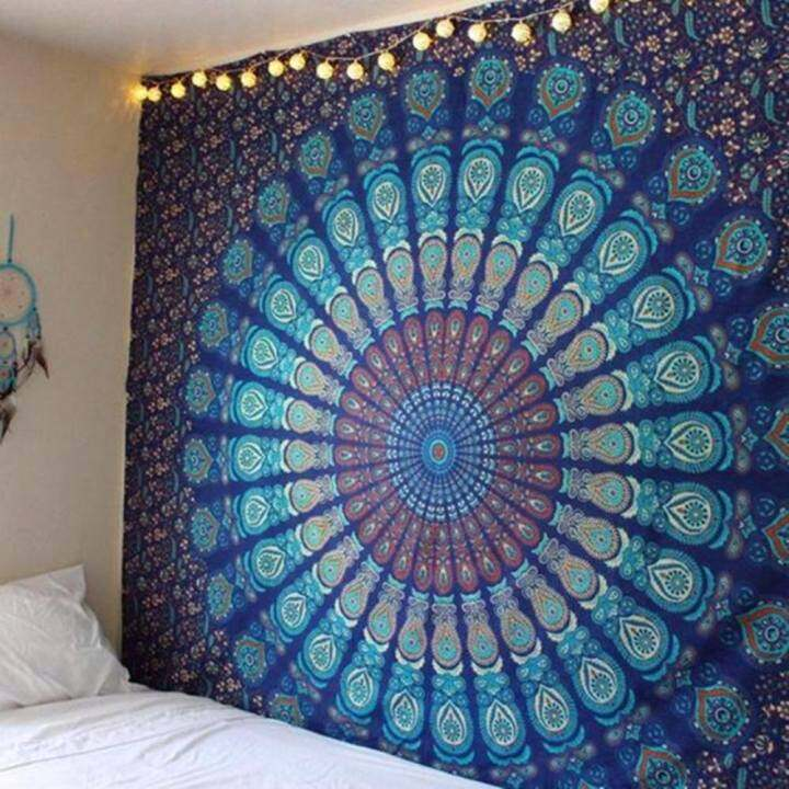 Indian Mandala Tapestry Hippie Wall Hanging Bohemian Bedspread Home Decor - intl