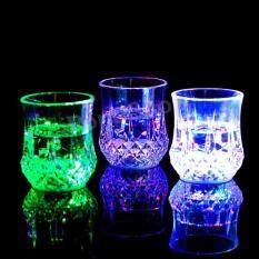 Inductive Rainbow Color Cup แก้วน้ำมีไฟ LED แก้วปาร์ตี้ขนาด 7 Oz