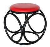 ราคา Inter Steel เก้าอี้เหล็ก เบาะกลมสตูล โครงดำ เบาะฟองน้ำ รุ่น Balloon สีแดง ถูก