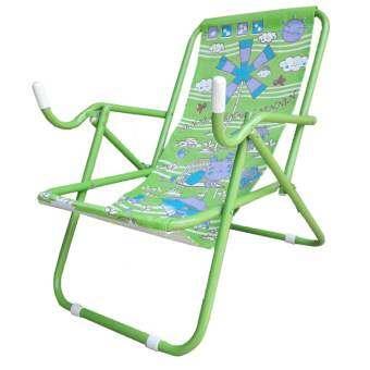 Inter Steel เก้าอี้ชายหาด รุ่น Seaview chair โครงเหล็กสีเขียว-