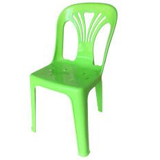 ซื้อ Inter Steel เก้าอี้พลาสติก เกรดA มีพนักพิง รุ่นหลังW สีเขียวสด