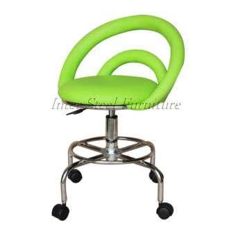 Inter Steel เก้าอี้สตูลนั่ง-เบาะหมุน(ขาล้อ)-