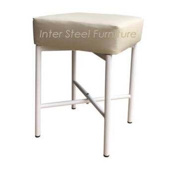 Inter Steel เก้าอี้สตูลนั่ง รุ่น Stool-MX โครงขาเหล็กระบบโฟลดิ้ง Folding เบาะฟองน้ำหนา11cm.หุ้มหนังเ-