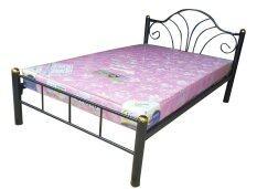 ราคา Inter Steel โครงเตียง เตียงเหล็ก 4ฟุต รุ่น Flower สีดำ ที่สุด