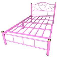 ราคา Inter Steel โครงเตียงเดี่ยว ขนาด3 5ฟุต รุ่น ลายหัวใจ สีชมพู ใน Thailand