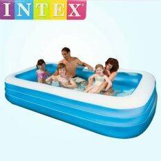 ขาย สระว่ายน้ำเป่าลมเด็ก สระว่ายน้ำเป่าลม สระเป่าลม Intex Pool สระว่ายน้ำเป่าลมเด็กขนาด 3 เมตร สีฟ้า ขาว Intex ผู้ค้าส่ง