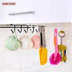 ราคา Iron Kitchen Storage Rack Cupboard Hanging Hook Shelf Dish Hanger Kitchen Organizer Shelf Bathroom Organizador Cocina Holder Intl Unbranded Generic จีน