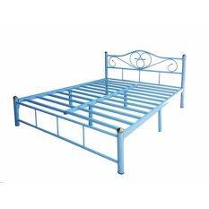 ขาย ซื้อ Iso เตียงเหล็กอย่างดี 6ฟุต รุ่น Lotus ขา2นิ้ว สีฟ้า ใน กรุงเทพมหานคร