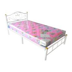 ราคา Iso Set เตียงเหล็ก 3 5 ฟุต รุ่นโลตัส สีขาว ที่นอนโฟมเสริมฟองน้ำ 3 5 ฟุต X 6นิ้ว รุ่นLatte Iso เป็นต้นฉบับ