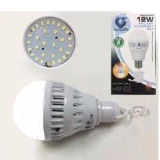 ส่วนลด หลอดไฟอัจฉริยะ อัตโนมัติ เมื่อไฟดับ แสงเดยไลท์ Iwachi Emergency Led 12W แถมฟรีขั้วหลอดไฟ E27 พร้อมสวิทในตัว กรุงเทพมหานคร