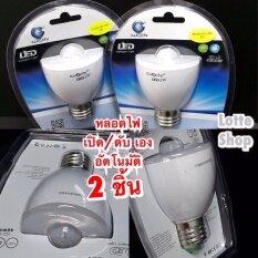 ราคา Iwachi หลอดไฟ เซ็นเซอร์ การเคลื่อนไหว เปิด ดับ เอง อัตโนมัติ ในที่มืด ประหยัดไฟได้มาก Motion Sensor Night Light 2ชิ้น Iwachi ใหม่
