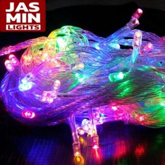Jasmin Lights ไฟกระพริบ LED กันน้ำ ( สีรวม ) 1 ชุด ไฟประดับ ไฟตกแต่ง