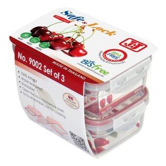 JCJ ชุดกล่องอาหาร SafeLock - 6 ชิ้น รวมฝา ( 400ml x 2 800ml กล่องสูง x 1 )