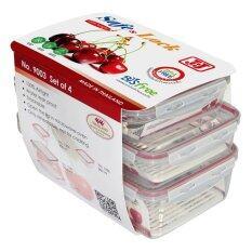 ราคา Jcj ชุดกล่องอาหาร Safe Lock 8 ชิ้น รวมฝา 800Ml X 2 2000Ml X 1 3200Ml X 1 เป็นต้นฉบับ