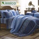 โปรโมชั่น Jessica ชุดเครื่องนอน ขนาด 5 ฟุต ผ้าปูที่นอน พร้อมปลอกหมอน รุ่น F1065 C954 รวม 5 ชิ้น สีฟ้าอ่อน Jessica ใหม่ล่าสุด