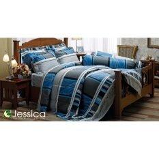 ขาย Jessica ชุดผ้าปูที่นอน สำหรับเตียงคู่ ขนาด 5 ฟุต Tc พิมพ์ลาย J164 ชุด 5 ชิ้น ประกอบด้วย ผ้าปูที่นอน 1 ปลอกหมอน 2 ปลอกหมอนข้าง 2 เป็นต้นฉบับ