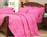 โปรโมชั่น Jessica Color ชุดเครื่องนอน ชุดผ้าปู 6 ฟุต 5 ชิ้น สีพื้น รุ่น Pink ไม่รวมผ้านวม ใน ไทย