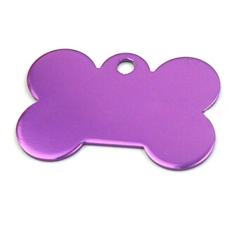 Jetting Buy Pet Name Tags Bone Shape Engraved Purple