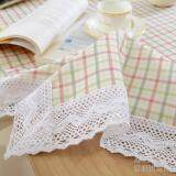 ราคา ผ้าเรียบง่ายผ้าปูโต๊ะลายสก๊อตโต๊ะรับประทานอาหาร เป็นต้นฉบับ