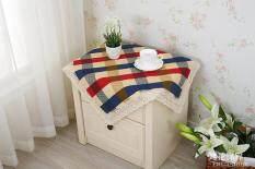ทบทวน ที่สุด ปกผ้าม่านที่เรียบง่ายผ้าปูโต๊ะผ้าฝ้ายลายสก๊อตโต๊ะกาแฟ