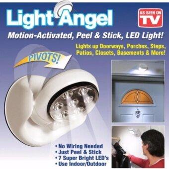 JJ ยอดขายอันดับ 1 ในอเมริกา สุดยอดนวัตกรรมไฟเซ็นเซอร์ตรวจจับการเคลื่อนไหวอัตโนมัติ Motion Sensor ไฟเซ็นเซอร์ 7 LED ตรวจจับการเคลื่อนไหวปรับระดับ180° องศา รุ่น Easy Light Angel สินค้ายกกล่องอุปกรณ์ครบแถมฟรีตัวยึดทุกรูปแบบอีก 1 ชุดจัดเต็มสุดคุ้ม
