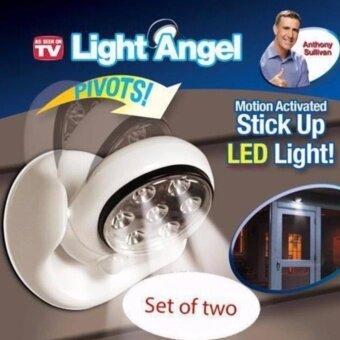 JJ LED Motion Sensor ไฟเซ็นเซอร์ 7 LED ตรวจจับการเคลื่อนไหวปรับระดับ180° (White)