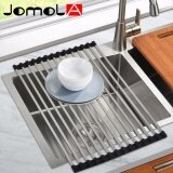 Jomola Folding Square Rod Roll Up Sink Dish Drainer Drying Rack Stainless Steel Kitchen Over Sink Kitchen Organizer Space Saver 522×320Mm ใหม่ล่าสุด