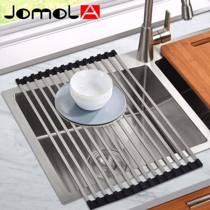 ราคา JOMOLA Folding Square Rod Roll Up Sink Dish Drainer