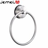 โปรโมชั่น Jomola Suction Cup Round Towel Ring Sus 304 Stainless Steel Removable Bathroom Kitchen Sucker Towel Ring Strong Suction Wall Mounted Towel Hanging Ring ถูก