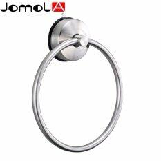 โปรโมชั่น Jomola Suction Cup Round Towel Ring Sus 304 Stainless Steel Removable Bathroom Kitchen Sucker Towel Ring Strong Suction Wall Mounted Towel Hanging Ring ใน จีน