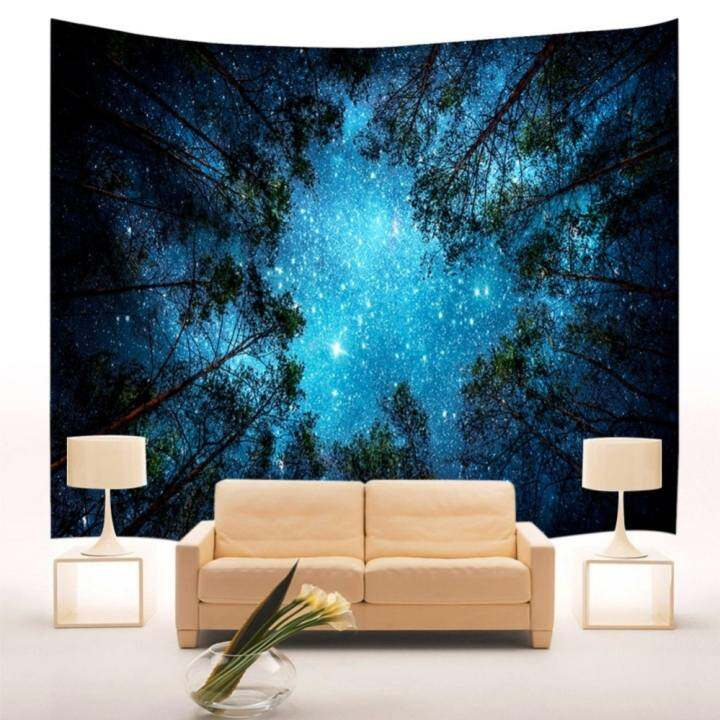 ... Hanging Bohemian Bedspread Hippie Throw Home Dorm ... Source · ราคา Jungle Starry Sky Wall Tapestry Indian Mandala Tapestry – intl