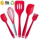 ราคา ราคาถูกที่สุด Jvgood 5 Piece Premium Silicone Kitchen Baking Set Spatulas Spoons Turner Heat Resistant Cooking Utensil By